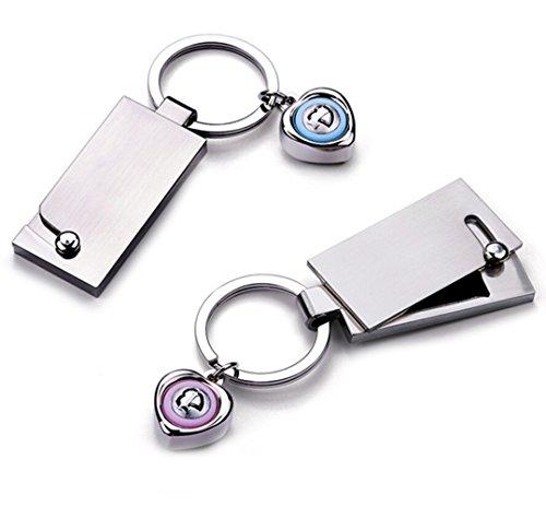 Gudeke Arbeiten Sie einfache vertrauliche Box Speak Ich liebe dich Paar Schlüsselbund Schlüsselring Buckle Hängen Ein Paar