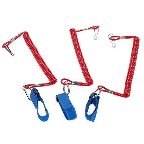 3pcs de correa Correa para paddle surf elástico Barra de seguridad para kayak y canoa kayak accesorio elástico a 195cm qbbrt