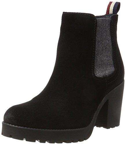 Hilfiger Denim Damen B1385OO 1B Chelsea Boots, Schwarz (Black), 39 EU