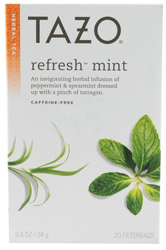 Tazo Herbal Tea Refresh Mint -- 20 Tea Bags - 2 pc