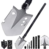 Portable Folding Shovel 23 in 1 Army Survival Multitool Entrenching Tool Collapsible Spade Carrying Pouch Pickaxe Camping Hiking Backpacking Fishing Trekking Gardening Hunting Car Emergency Outdoor