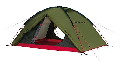 High Peak Kuppelzelt Woodpecker 3, Campingzelt, Trekkingzelt für 3 Personen, 2 Eingänge, Stauraum, Dauerventialtion, 3000 mm wasserdicht, Moskitoschutz, windstabil