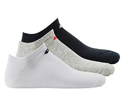 Lotto 3 PAAR Invisible Socken, Unisex, Sneaker Socks, verschiedene Farben: Farbe: Marine/Grau/Weiß | Größe: 39-42 (UK 6-8)