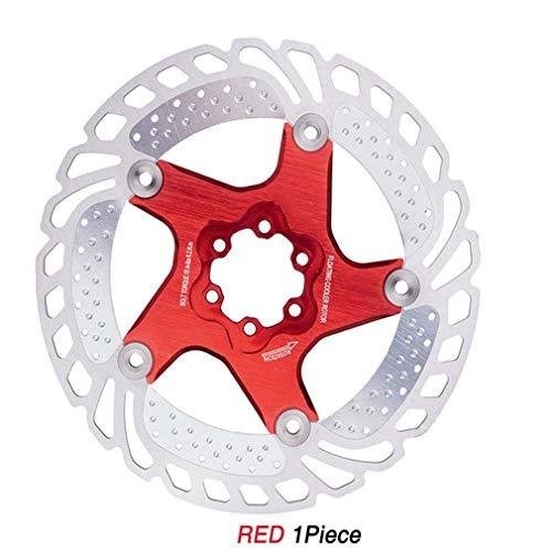 tewun Disco de Freno Radiante para Bicicleta MTB, Disco de Freno de Bicicleta de Carretera de Descenso en Pendiente Disco de Seis Clavos con Tornillos - 140 mm, 160 mm, 180 mm, 203 mm