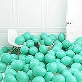 100 Piezas Macaron Globos,Globos Colores Pastel,Globos Pasteles de Látex para Cumpleaños/Bodas/Aniversario/Navidad/Celebración/Fiestas/Decoración de Tienda, 10 Pulgadas (Turquesa)
