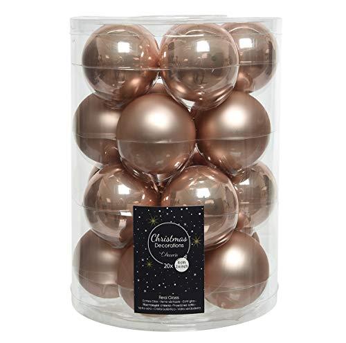 20 palline per albero di Natale, in vetro, 6 cm