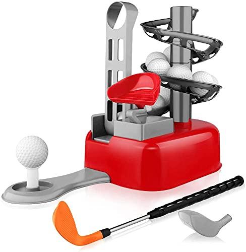Baztoy Golf para niños, Palos Máquina de Golf Juegos Aire Libre Mini Golf para Casa Jardin Golfista Juguetes para Niños Niña 3 4 5 6 7 8 9 10 11 12 Años Regalos Navidad Cumpleaños Chico Chica