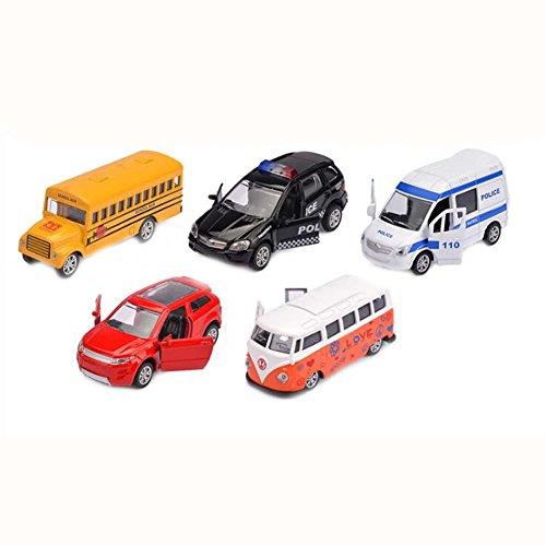 Belle Petite Voiture Enfants Toy Pull Back Set de 5