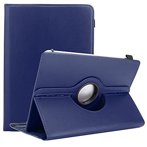 Cadorabo Tablet Hülle kompatibel mit Asus Zenpad S 8.0 (Z580CA / Z580C) in DUNKEL BLAU - Schutzhülle aus Kunstleder mit Standfunktion - 360 Grad Hülle mit Gummiband