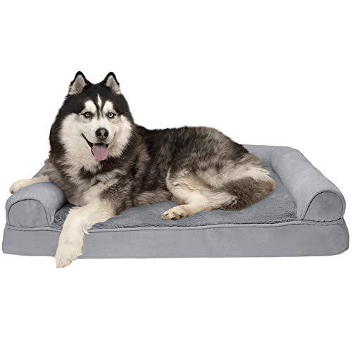 Furhaven Plush Orthopedic Sofa-Style Dog Bed
