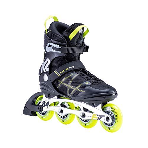 K2 Inline Skates F.I.T. 84 PRO Für Herren Mit K2 Softboot, Black - Yellow, 30E0013