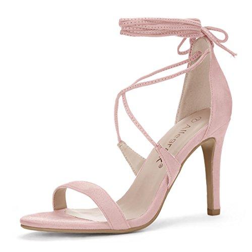 Allegra K Women's Lace-up Light Pink Sandals - 8 M US