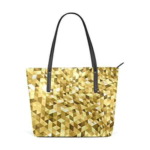 MALPLENA Twisty Gold Mosaic - Bolso de mano para mujer, color dorado