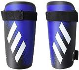 adidas Adult X 20 Training Shin Guards, Black/Team Royal Blue, X-Large