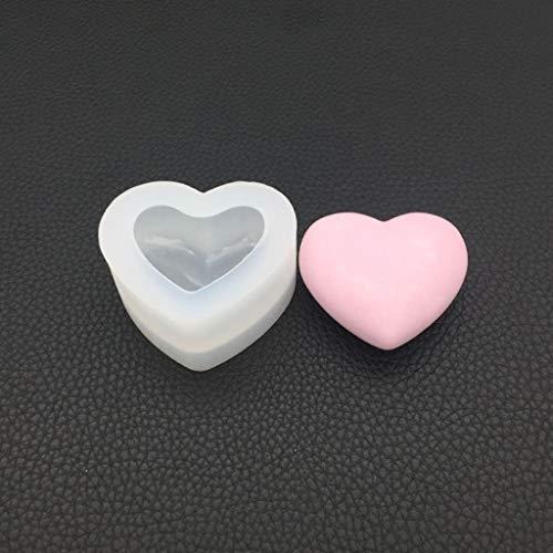 KERDEJAR Molde, Molde de Silicona Espejo Forma de Corazón 3D Suave Artesanía DIY Fabricación de Joyas Hecho a Mano Pastel Fondant Moldes de Resina Epoxi Decoración Herramientas de Chocolate Pequeñas