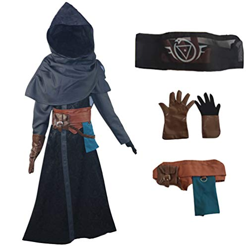 Game Identity V Cosplay Costume Eli Clark Halloween Costume Shawl Cloak Full Set Blue