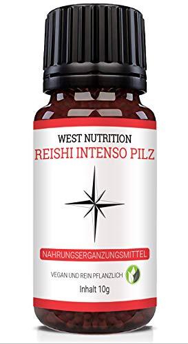 West Nutrition Reishi Intenso Pilz Globuli – geeignet für Männer, Frauen und Kinder 1000 – vegan Nahrungsergänzungsmittel, radionisch informiert