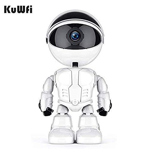 KuWFi WLAN IP Kamera Überwachungskamera Baby Monitor Automatische Überwachungskamera für Home Security Roboter Wireless IP Kamera Home Security Pet Monitor weiß 1080p