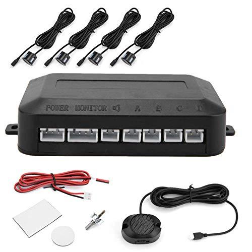 Sensor de aparcamiento de coche, asistencia de aparcamiento trasero, kit de radar de respaldo de marcha atrás, sistema de sonda de indicador de sonido de advertencia