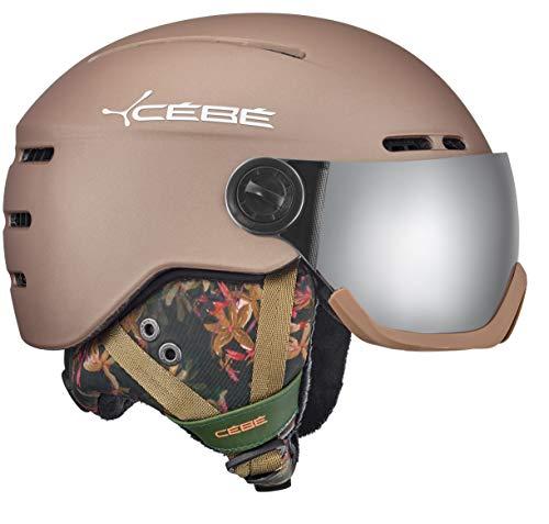 Cébé Unisex– Erwachsene Fireball Skihelme Brown 56-58 cm