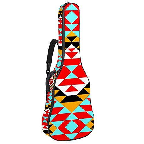 Paquete de guitarra acústica para principiantes, tamaño completo, con tapa de abeto, con corte de guitarra acústica, geométrica, 108,9 x 42,8 x 11,9 cm