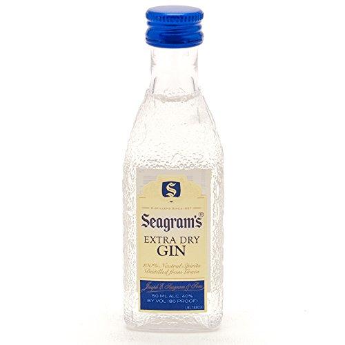 Pack 10 botellitas ginebra Seagrams Extra Dry 50ml miniatures