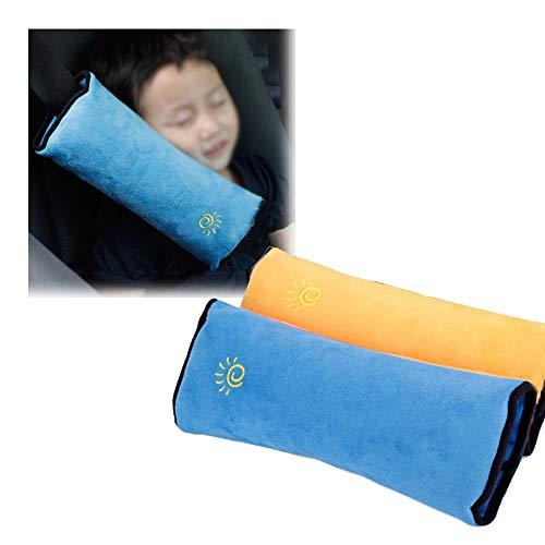 Xinlie 2 Piezas Almohadillas para Cinturón Cojín de Almohadillas Protectores Cobertores Cojín de Viaje Fundas de Cinturones de Seguridad Almohadillas Protectoras Hombro Cinturón de Seguridad para Niño