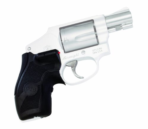 Crimson Trace LG-405 Lasergrips Red Laser Sight Grips for Smith & Wesson J-Frame (Round Butt) Revolvers - Compact Grip