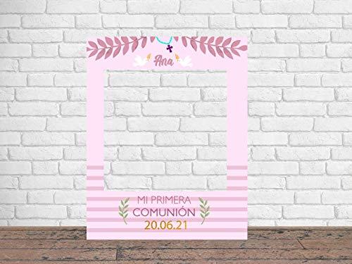 Photocall Mi Primera Comunión Niña 80 x100 cm | Regalos para Bautizos | Photocall Económico y Original | Ideas para Regalos | Regalos Personalizados de Comunión