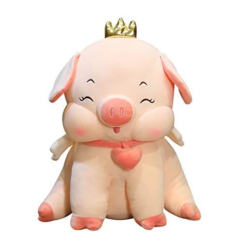 zhenxin Juguete de Peluche Dibujos Animados Lindo Rosa Cerdo Peluche Juguetes Rellenos Kawaii Crown Cerdo Almohada para Las niñas niños Princesa Regalos de cumpleaños (Height : 55cm)