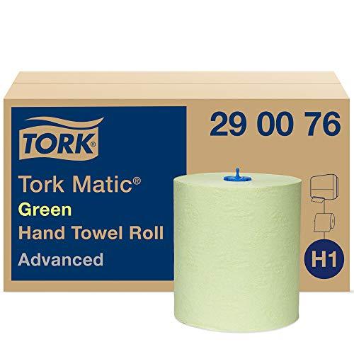 Tork Matic grünes Rollenhandtuch Advanced 290076 - H1 Papierhandtücher für Rollenhandtuchspender, saugfähig und reißfest, 2-lagig, grün - 6 Rollen x 150 m
