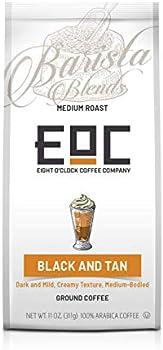 Eight O'Clock Coffee Barista Blends Ground Coffee, Black & Tan, 11 Ounce