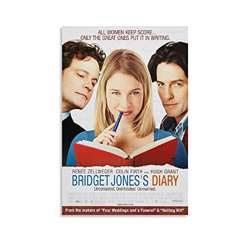 Bridget Jones's Diary Movie Poster Posters for Room Aesthetic Canvas Wall Art Living Room Posters Size 08x12 12x18 16x24 20x30 24x36 Decoration Poster 24x36inch(60x90cm)