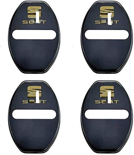 4 Piezas Acero Inoxidable Cubierta Protectora Cerradura de Puerta, para Seat Cubierta pestillos Cerradura Puerta Coche