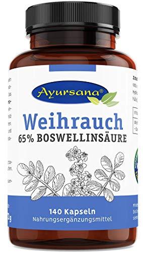 Weihrauch Kapseln (140 Stück) | Echter indischer Weihrauch (Boswellia Serrata) mit 65 % Boswelliasäuren | 800 mg Weihrauchextrakt je Tagesdosis | Apothekenqualität aus deutscher Herstellung