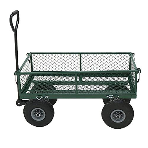 Netagon Outdoor Garden Waste Heavy Duty Durable Steel Mesh Gardeners Cart...