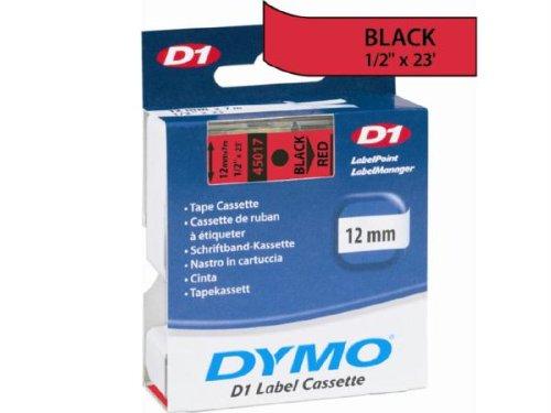Buy Dymo Black Print/Red Tape, 1/2 X 23