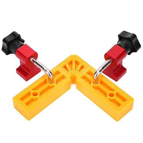 Clip de posicionamiento de 90 °, materiales de alta resistencia Clip de fijación de 90 °, antiimpacto para carpintería Cajas de producción para determinar la posición de los marcos de fotos