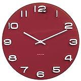 Karlsson - Reloj de Pared Vintage, Cristal, Color Burdeos, Talla única