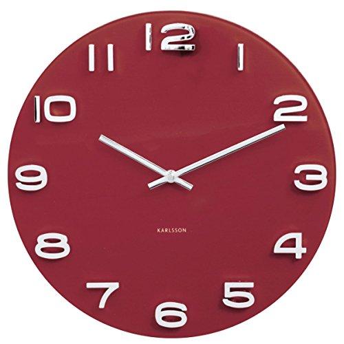 Karlsson - Reloj de Pared (Cristal, tamaño único), diseño Vintage,