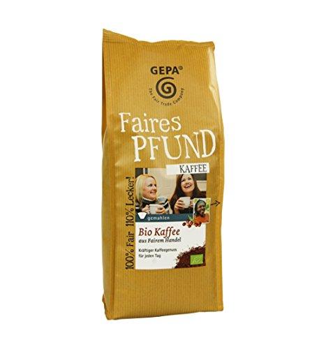 GEPA Faires Pfund Bio Kaffee gemahlen - 1 Karton ( 6 x 500g )