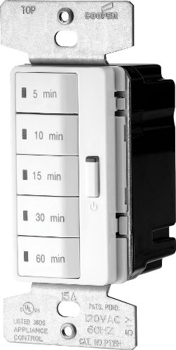EATON PT18M-W-K Accell Core Programmable Timer, 120 V, 5, 10, 15, 30, 60 Min Off, White
