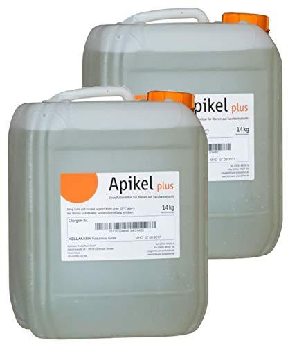 APIKEL Plus Invert Sirup 2X 14 kg im Kanister Flüssiges Bienenfutter Futter für Bienen Bienensirup Imker … (2X 14kg Kanister)