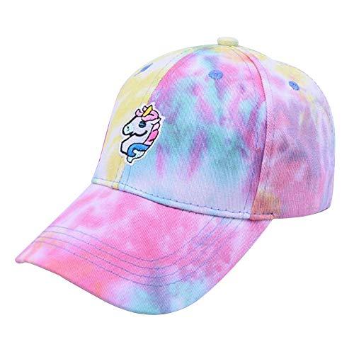 zhongjiany - Gorra de béisbol bordada con unicornio, colorida, visera para mujeres y niñas