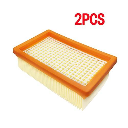Mizuho Filtro HEPA FIT para KARCHER MV4 MV5 MV6 WD5 WD6 Piezas de Recambio de aspiradora húmeda y Seca de MV6# 2.863-005.0 Filtros HEPA (Color : 2PCS)