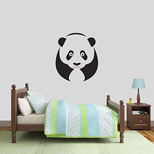 Panda pegatinas de pared sala de estar dormitorio decoración del hogar vinilo pegatinas de pared jardín de infantes habitación de los niños pegatinas de pared mural