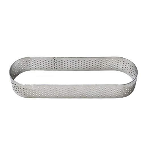 XJF Molde de acero inoxidable con forma de corazón perforado y forma de torta