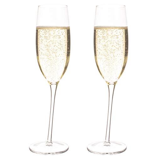 CKB Ltd - Juego de 2 copas de champán inclinadas para vino espumoso y