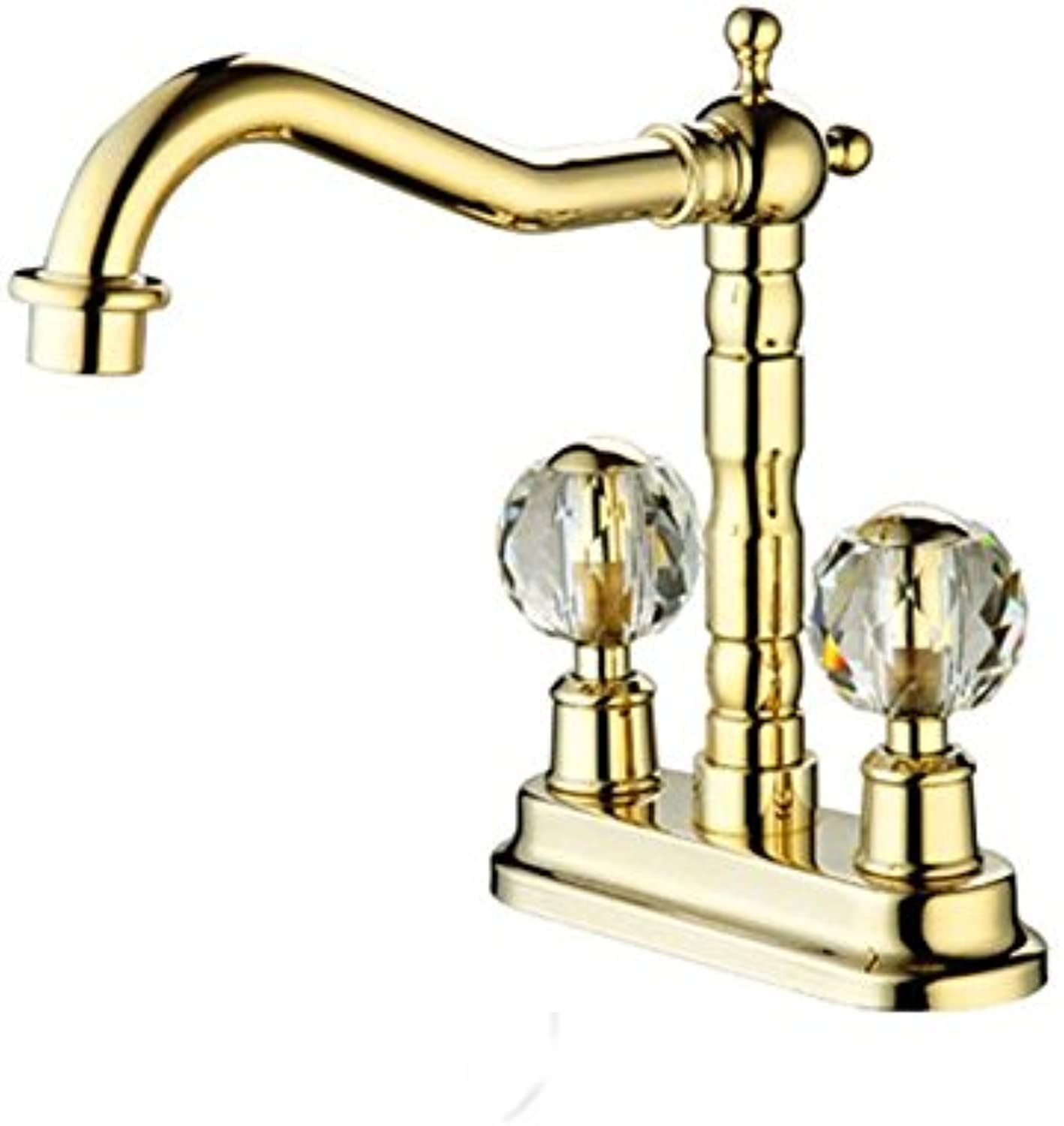 Gyps Faucet Basin Mixer Tap Waterfall Faucet Antique Bathroom Mixer Bar Mixer Shower Set Tap antique bathroom faucet Antique simple full copper hot and cold kitchen sink faucet kitchen faucet B as a w