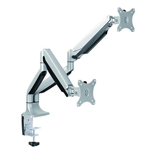 LogiLink BP0043 2-fach Aluminium Monitor-Schreibtischhalterung 33-81,3 cm (13-32 Zoll) silber